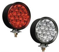 LED pedestal mount stop/turn/tail light with red LED's and clear lens