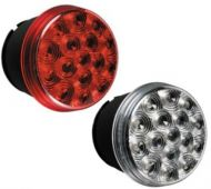 """LED 4"""" Round Stop / Turn / Tail Light (Clear/Red)"""