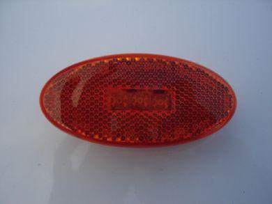 LED Oval Marker w/ Reflex Lens (Amber)
