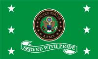 US Army Served w/Pride Flag