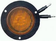 """LED 2-1/2"""" Clearance/Marker sealed lamp with flange (Amber)"""
